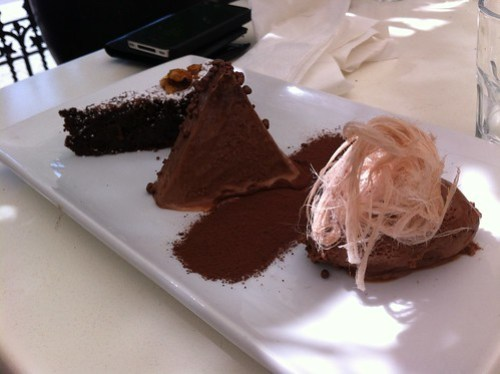 Chocolate trio at Table 78