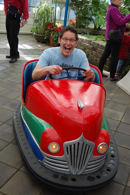 Matti in the Dodger Bumper Car
