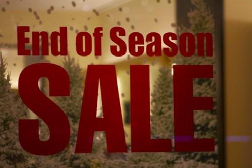 End of Season Sale, Michigan Avenue, Chicago, December 2011