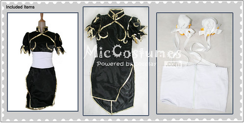 Street Fighter Chun Li Black Cosplay Costume_1