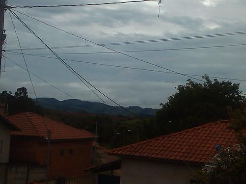 Vista ao amanhecer do bairro N Sra Aparecida- Borda da Mata - MG