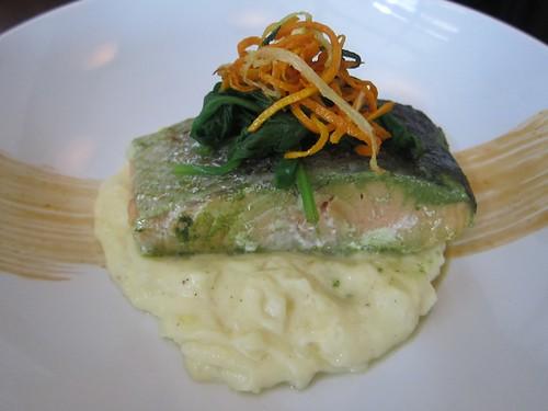 Green tea salmon at LuLu
