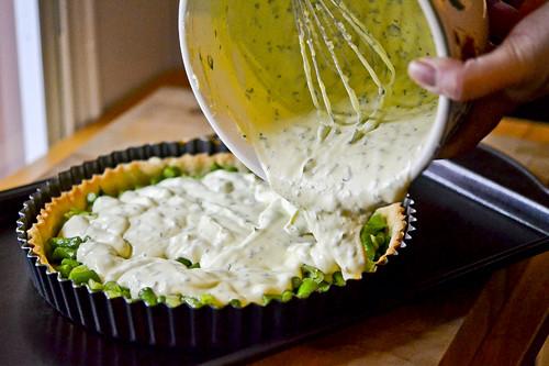 Spring Vegetable & Goat Cheese Tart 16
