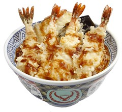 Yoshinoya Shrimp Tempura Bowl