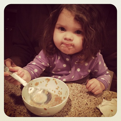 Offering me some of her breakfast #photoadayapril