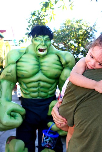 Lucy gets scared of Incredible Hulk