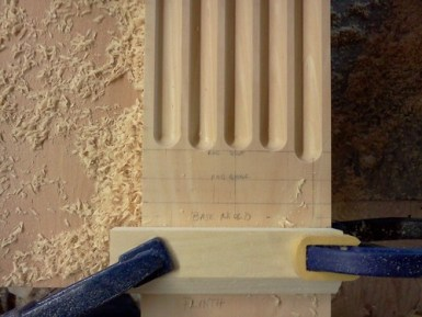 Pilaster Layout Close Up