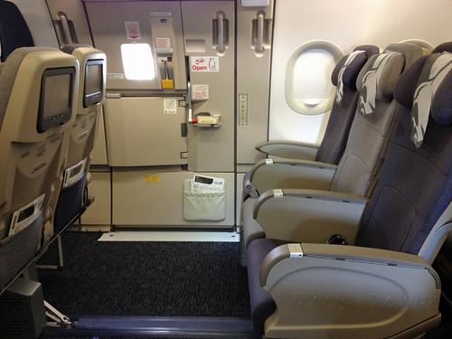 Gulf Air Airbus A321 Exit row