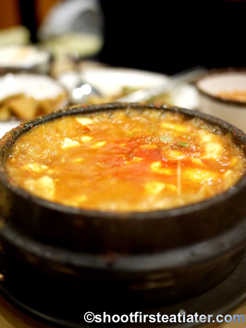 Soondubu - tofu soup $9.95