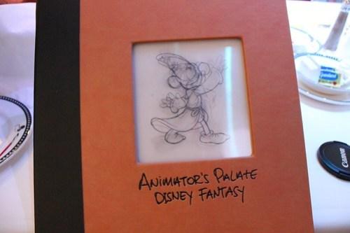 Animator's Palate restaurant menu