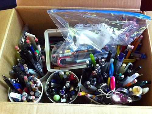Box of pens