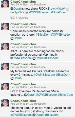Oprah Tweets Blissdom Two