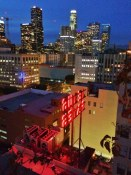 View from the roof at the Ace Hotel, Downtown LA