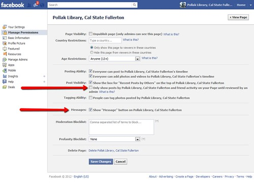 Facebook Pages Redesign: Permissions Changes