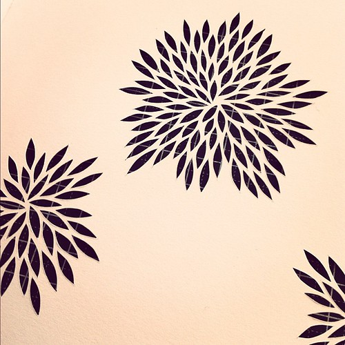 Work in progress - Paper cut in sketchbook