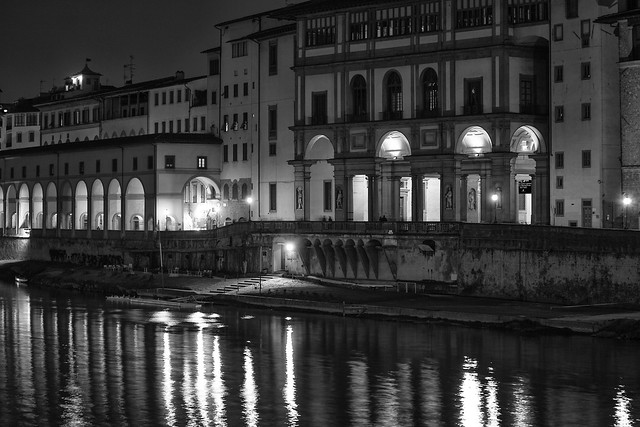 Uffizi at Night from the River