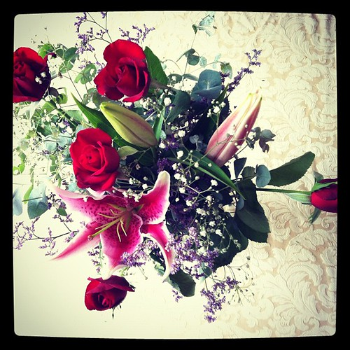 Valentine's Day bouquet from the hubby... <3
