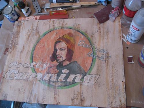 Jayne Painting in the Studio