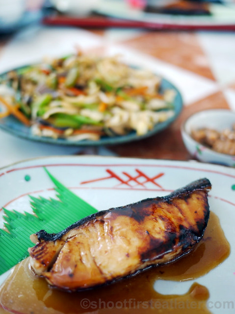 Yurakuen Japanese Restaurant- gindara teriyaki