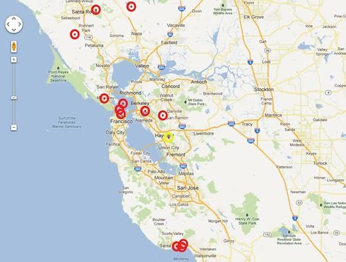 13 bike crashes in Northern California
