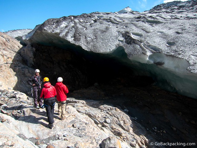 Walking under Viedma Glacier