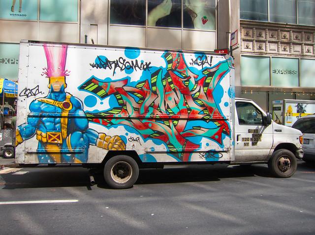 Cyclops Graffiti Truck in NYC