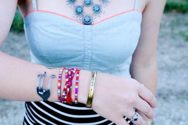 DIY Rainbow Friendship Bracelet