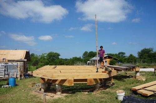 Timber frame floor platform
