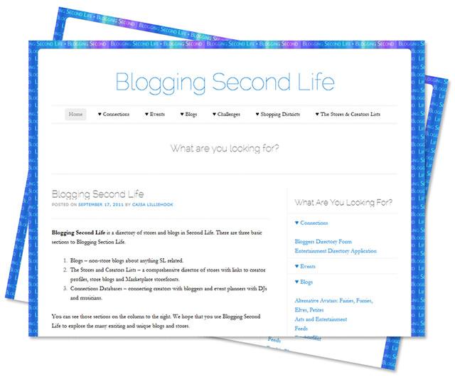 Blogging Second Life