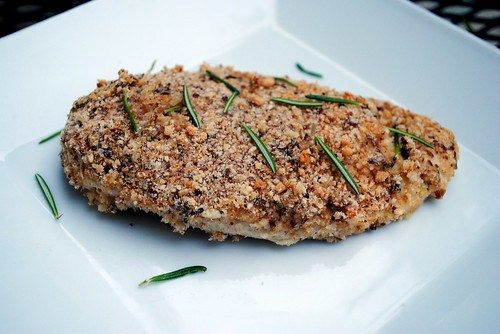 Almond & Rosemary Oven-Fried Chicken