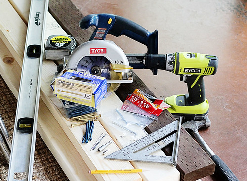 Materials and Tools for Framing Closet