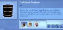 Triple Stack Trashcan (Community Lots Only)