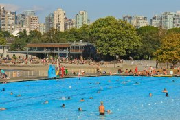 Kits Pool in full swing