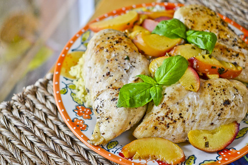 Basil-Peach Chicken 5