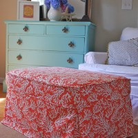 Beachy Coral Slipcover