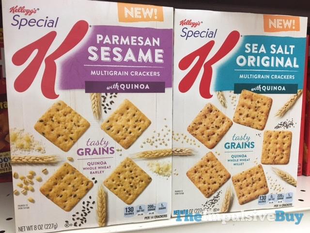 Special K Parmesan Sesame and Sea Salt Original Multigrain Crackers