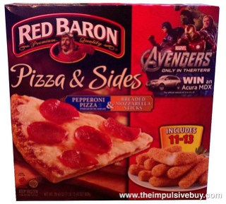 Red Baron Pizza & Sides Pepperoni Pizza & Breaded Mozzarella Sticks