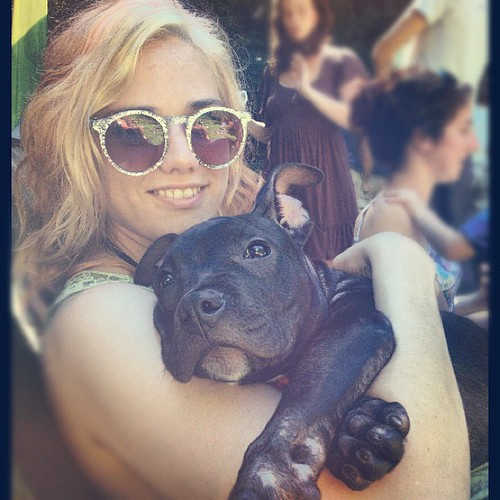 AND pitbull puppy snuggles!? This day = the best.