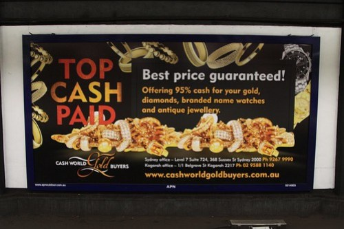 'Top cash for gold' billboard