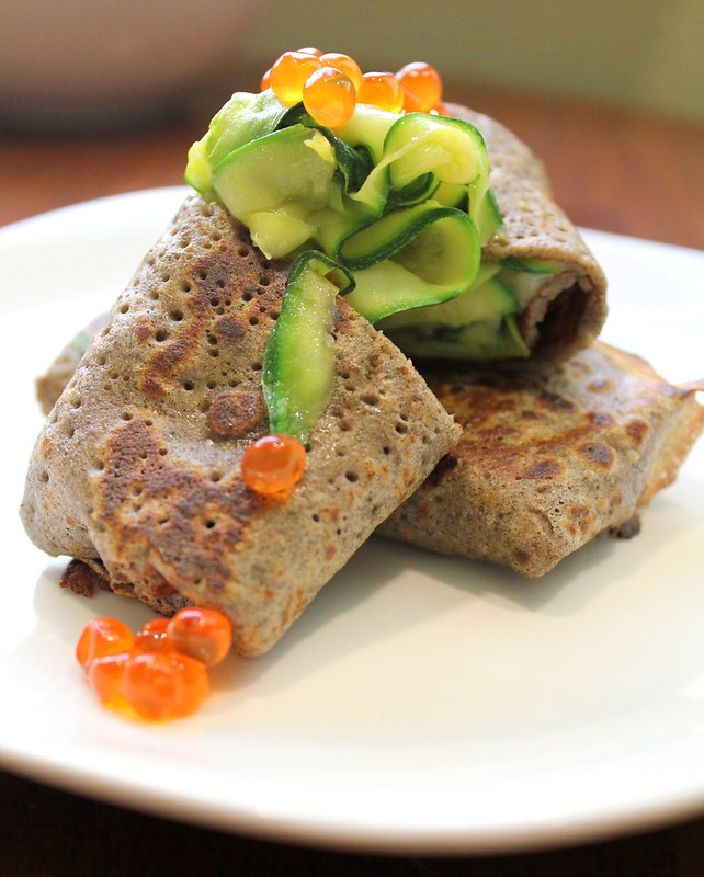 crepes with zucchini and cheese