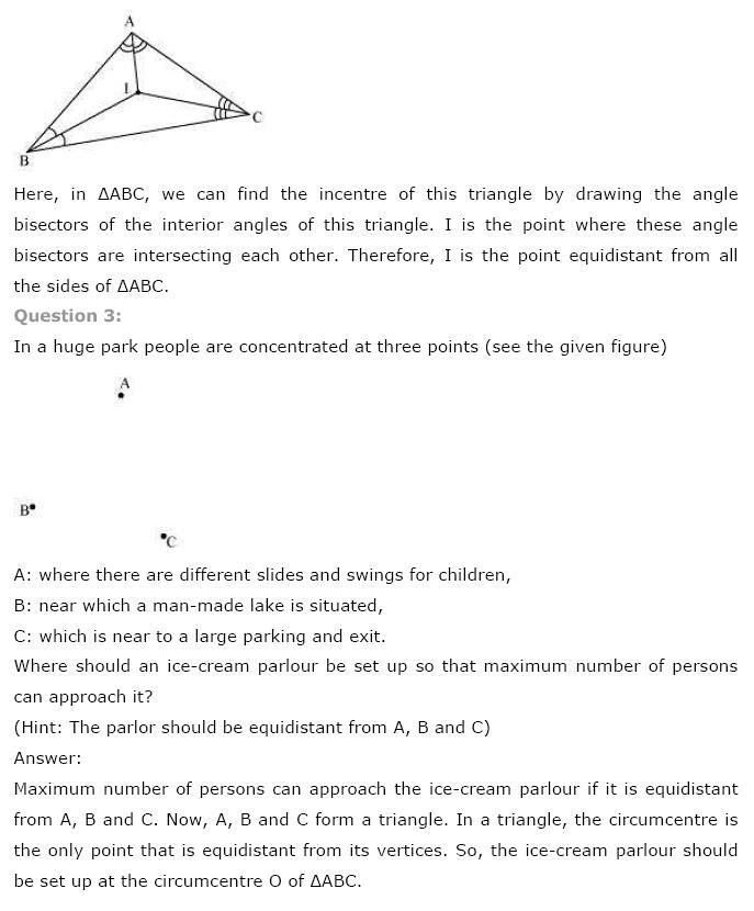 NCERT Solutions for Class 9th Maths: Chapter 7 Triangles Image by AglaSem