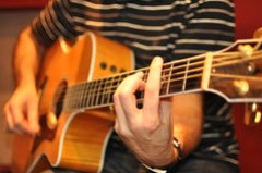 Acoustic guitar music, Guitar G major barre chord