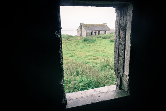 Inside an abandoned house in Inishshark