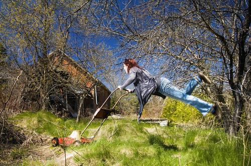 120/366--Tam's Magic Flying Rustic 1974 Lawnmower