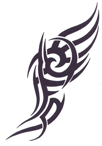 simple tribal tattoo design