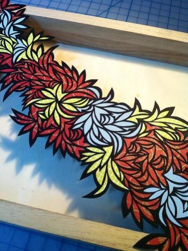 Paper cut collage design