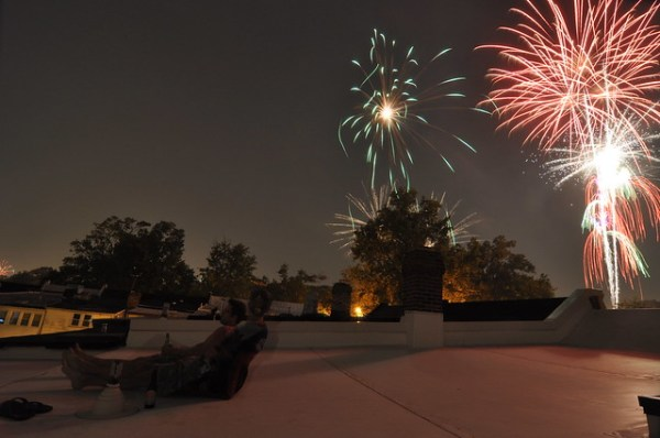 Rooftop fireworks 3