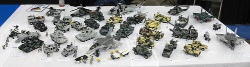 Military vehicles at Brickfair Va 2013