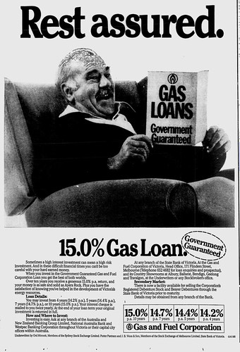 """Rest assured. Gas loans: Government Guaranteed"""
