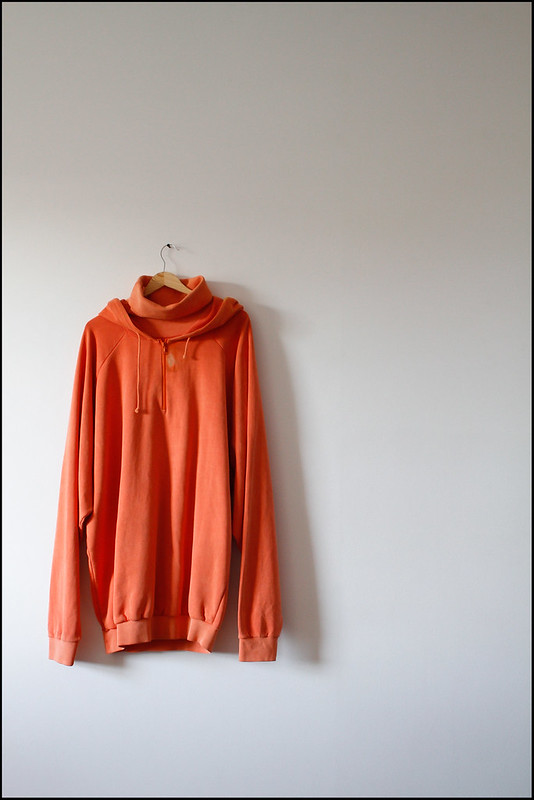 "Tuukka13 - Antwerp, Belgium - Raf Simons Archive Sales Purchases - 04.2013 - ""Raf Simons A/W 2004 - Jersey Cotton Orange Hoody"""